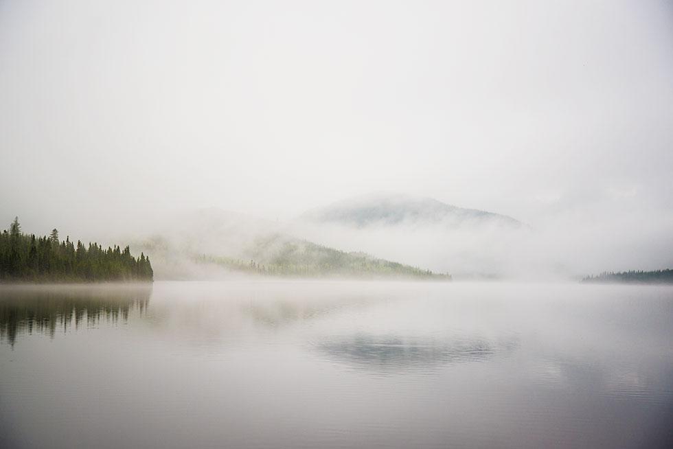Lac à l'épaule ce matin